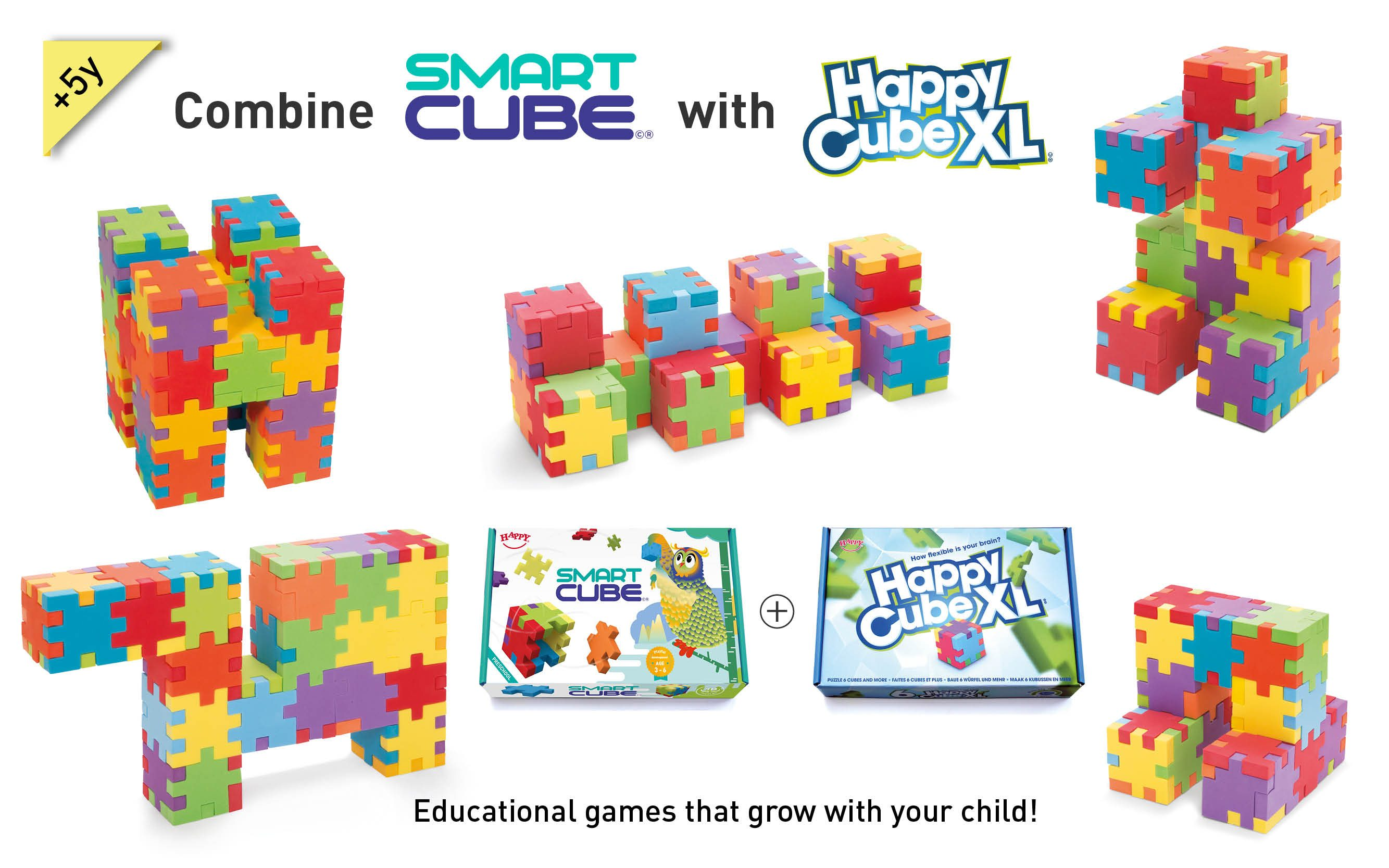Happy_Smart Cube+HappyCubeXL_combined_foam_cube_puzzles_educational_game_with_cards_schools